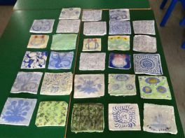Mrs Comiskeys' class made Victorian Tiles